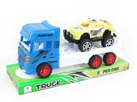 Friction Truck Tow Free Wheel Police Car