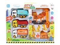 Friction Construction Truck Set(2S)