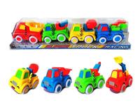 Friction Construction Truck(4in1), cartoon truck