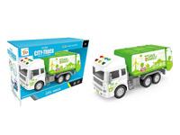 Friction Sanitation Truck W/L_S toys