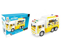 Friction School Bus W/L_S toys