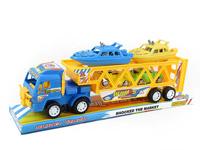 Friction Double Deck Trailer(2C) toys
