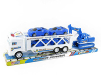 Friction Double Deck Trailer toys