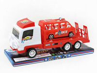 Friction Truck Tow Police Car toys