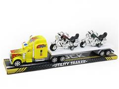 Friction Truck Tow Free Wheel Motorcycle(2C) toys