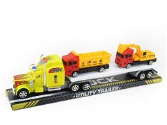 Friction Tow Free Wheel Construction Truck(2C) toys