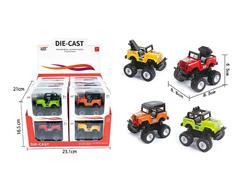 Die Cast Jeep Friction(12in1) toys