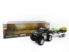 Friction Cross-country Police Car Tow Truck(2C) toys