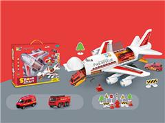 Friction Fire Fighting Series Of transporter Mobile Headquarters W/L_S toys