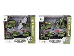Friction Military Car Set(2S) toys