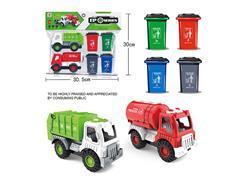 Friction Sanitation Truck Set toys
