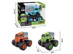 Die Cast Sanitation Truck Friction(3C) toys