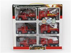 Friction Fire Engine(6in1) toys