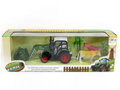 Friction Farmer Tractor Set W/L_M toys