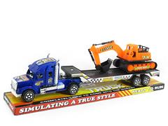 Friction Truck Tow Construction Truck(3C) toys
