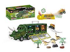 Friction Dinosaur Storage Car Set W/L_M toys