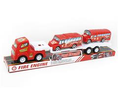 Friction Truck Tow Free Wheel Bus toys
