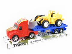Friction Truck Tow Construction Truck(2C) toys