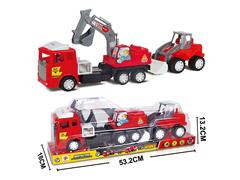Friction Excavating Machinery & Free Wheel Construction Truck toys