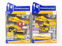 1:64 Metal Free Wheel Construction Truck Set(2S)
