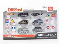 Die Cast Car Set Free Wheel