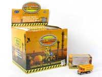 1:64 Metal Free Wheel Construction Truck(24in1)