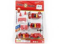 Free Wheel Fire Engine Set