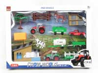 Die Cast Farmer Truck Set Free Wheel