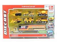 Die Cast Construction Truck Set Free Wheel