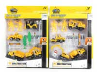 Metal Free Wheel Construction Truck Set(4in1)