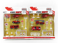 Die Cast Free Wheel Fire Engine Set (2 Style) toys