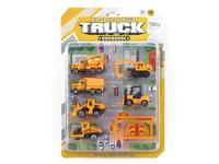 Die Cast Construction Truck Set Free Wheel(6in1) toys