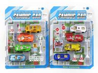 Die Cast Racing Car Set Free Wheel(2S) toys