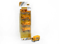 Die Cast Construction Truck Free Wheel(5in1) toys