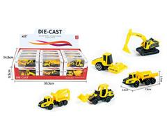 Die Cast Construction Truck Free Wheel(24in1) toys