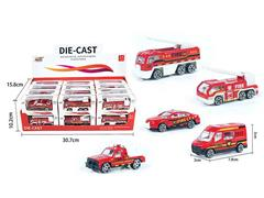 Die Cast Fire Engine Free Wheel(24in1) toys