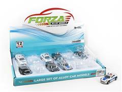 Die Cast Police Car Free Wheel(12in1) toys
