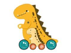 Drag Tyrannosaurus Rex toys