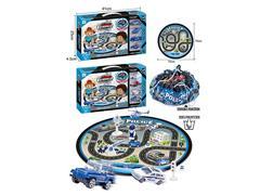 Metal Free Wheel Police Car Set toys