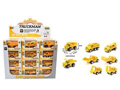 Die Cast Construction Truck Set Free Wheel(48in1) toys