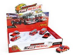 1:55 Die Cast Fire Engine Free Wheel(12in1) toys