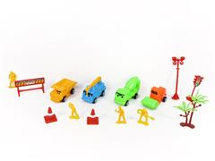 Free Wheel Construction Truck Set toys