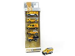 1:64 Die Cast Construction Truck Free Wheel(6in1) toys