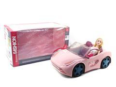 滑行敞篷车带芭比