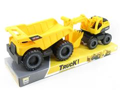 Free Wheel Construction Truck(2in1) toys