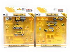 Die Cast Construction Truck Set Free Wheel(2S) toys