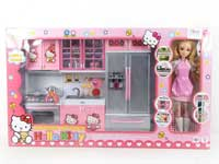 Kitchen Set & Doll W/L_M