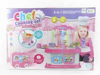 Kitchen Set W/L_M & Shopping Car & Beauty Collection Delight