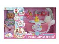 B/O Tub Set & Doll