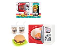 B/O Micro-Wave Oven Set W/L toys